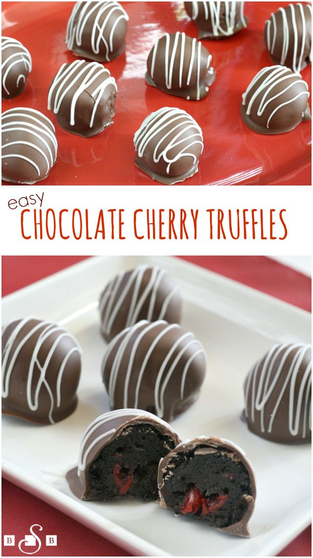 Easy Chocolate Cherry Truffles - Butter With a Side of Bread