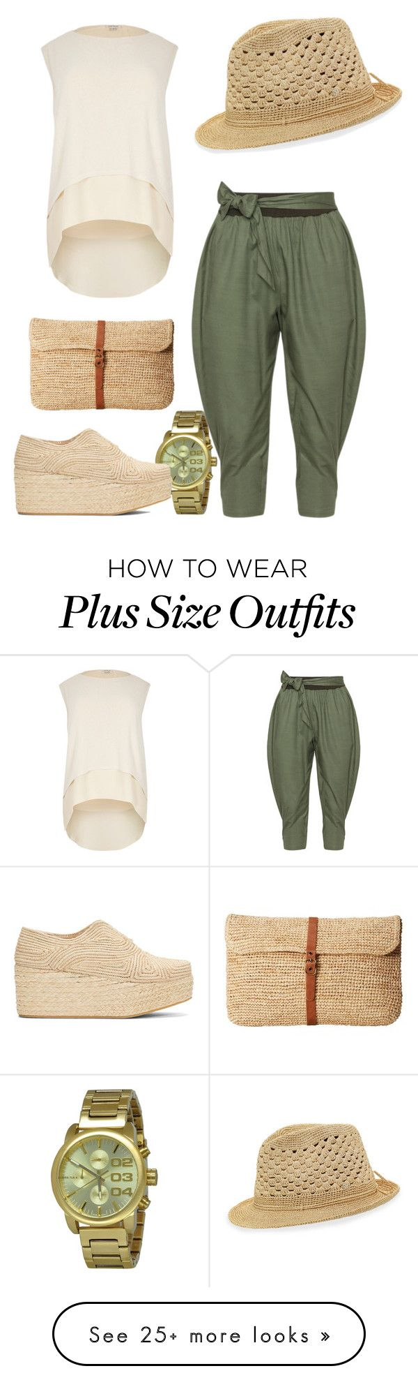 """""""Untitled #136"""" by twisted1beauty on Polyvore featuring Diesel, Isolde Roth, River Island, Robert Clergerie, Hat Attack and Helen Kaminski"""