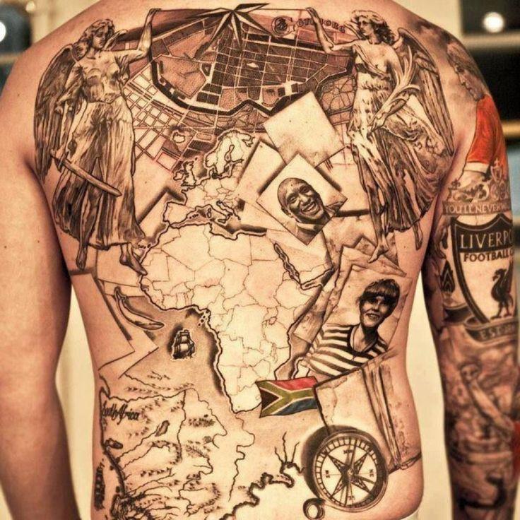 Florida Map Tattoos.Tennessee Travel Tattoos