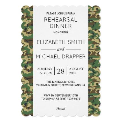 #Rehearsal Dinner - Camouflage Pattern - Brown Card - rehearsal dinner invitations #rehearsal #dinner #invitations #weddinginvitations #wedding #invitations #party #card #cards #invitation #rehearsaldinner