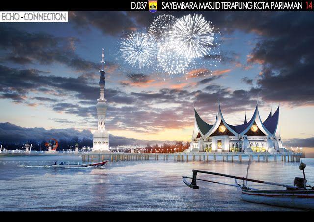 """Sayembara Masjid Terapung Kota Pariaman """"Konsep Desain 7"""" ~ 1000+ Inspirasi Desain Teknologi Konstruksi Arsitektur"""