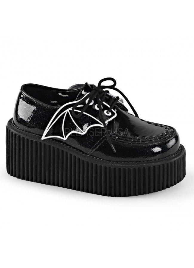 Bat Wing Womens Creeper Shoes - Demonia