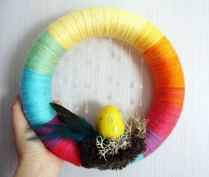 Rainbow wreath!
