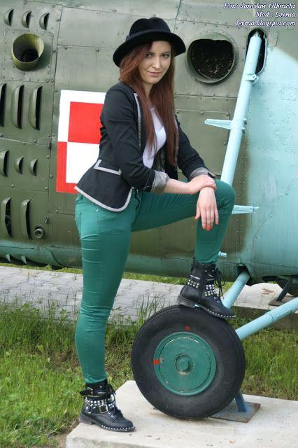 Leyraa Blog: 14.05.2017 Zielone rurki, kapelusz, białe body, cz...