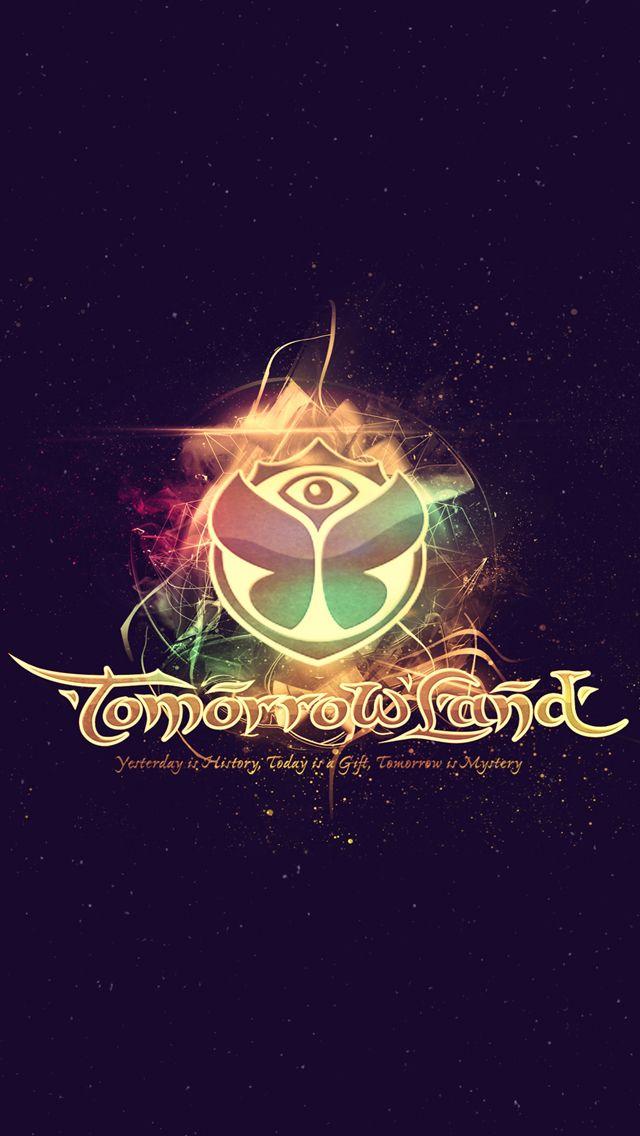 Tomorrowland 2014 Electronic Music Festival Logo iPhone 5 Wallpaper