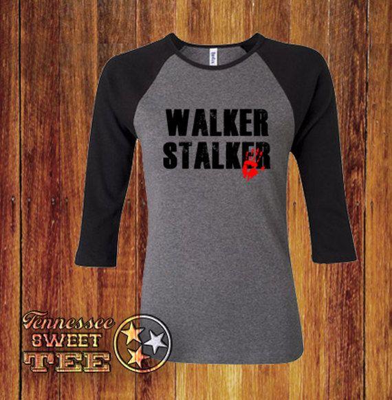 Walker Stalker, Walking Dead, Zombies, Geek Clothing, apocalypse, Living Dead, Walkers, Unisex Clothing