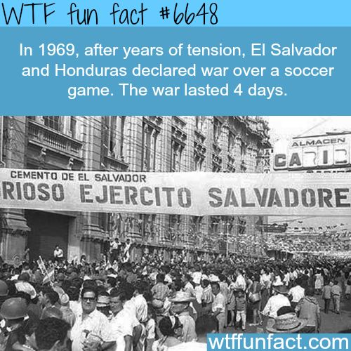 Football war - WTF fun facts