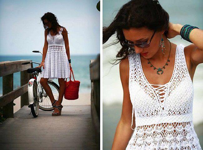 Ganchillo patrón de vestido de verano
