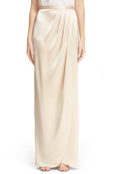 St. John Collection Liquid Satin Faux Wrap Skirt available at #Nordstrom