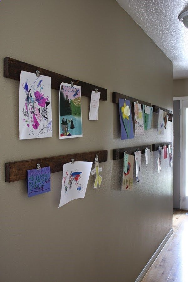 Check out the instructions at Lost Button Studio for this decorative and functional way to display childrens art!