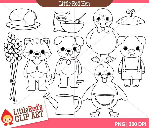 little red hen characters Colouring