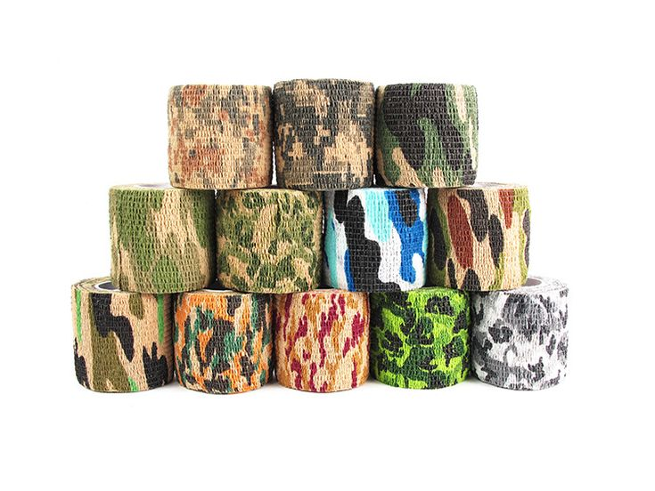 Elástica Cinta Impermeable Militar Caza Camuflaje de Sigilo Para Pistola de Paintball Airsoft CS Guerra Refle, Kit de Viaje de Campamento de Tiro