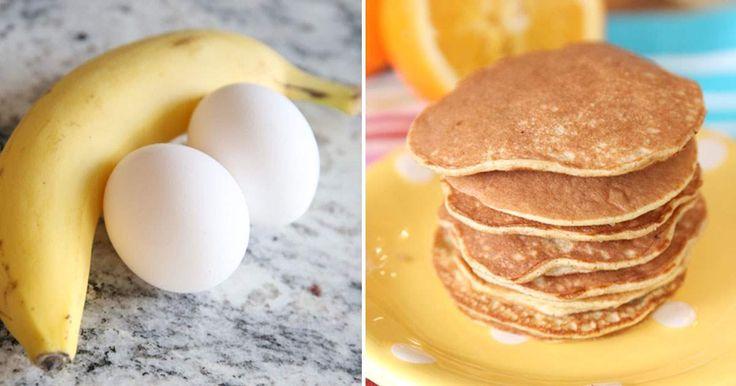 recept na palačinky a lívance z banánů a vajec