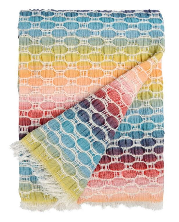 MissoniHome thinks being cozy should be fun! Love this throw.