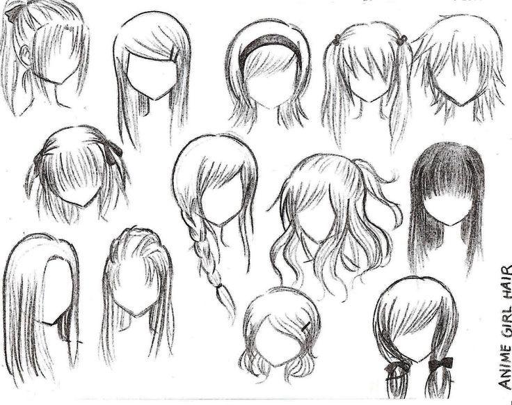 como dibujar anime cabello masculino - Buscar con Google