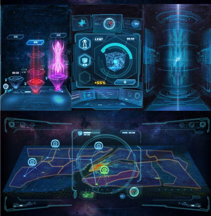 futuristic game ui