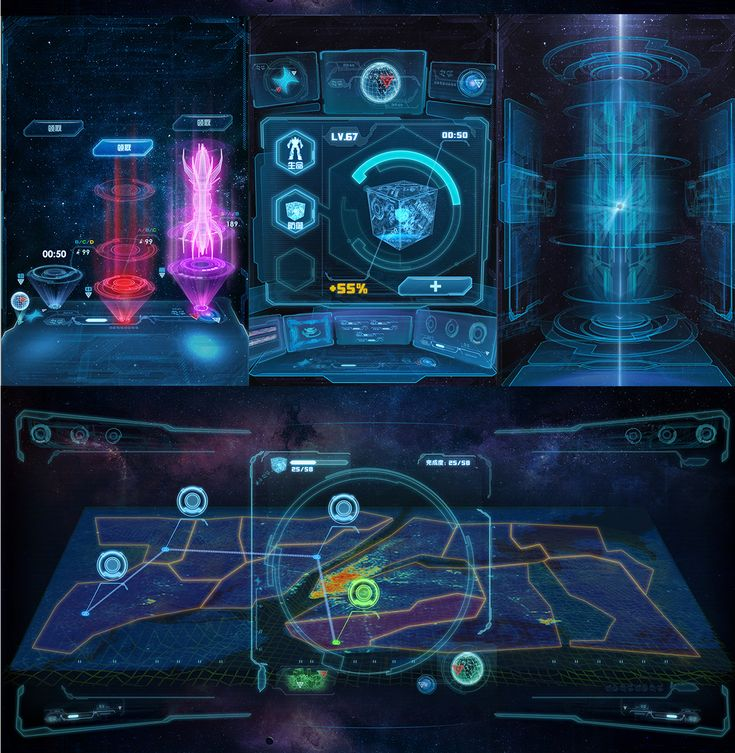futuristic game ui