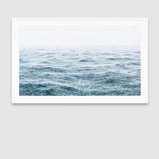 Fresh delivery of ocean photography in store today | Bit in love with this new one 'Ocean Rain' (125x78cm - perfect size for above a sofa or dining table) | Your favs have been restocked too #australianmade #oceanphotography #framedprint #beachphotography