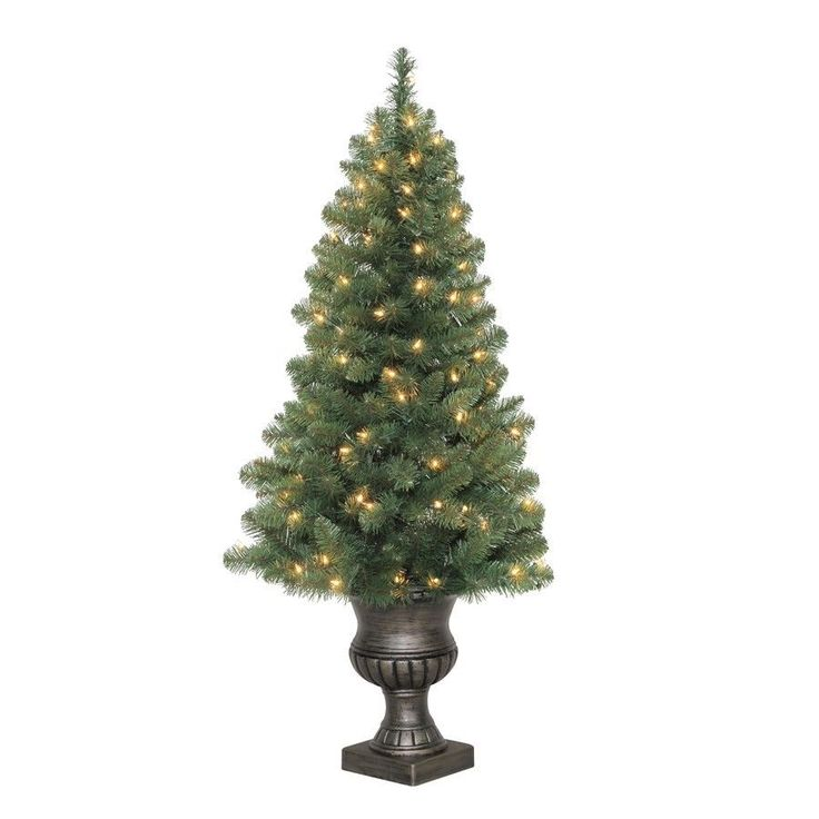 4FT Pre-lit Arctic Pine Artificial Christmas Tree 100 Constant Clear White Light #White