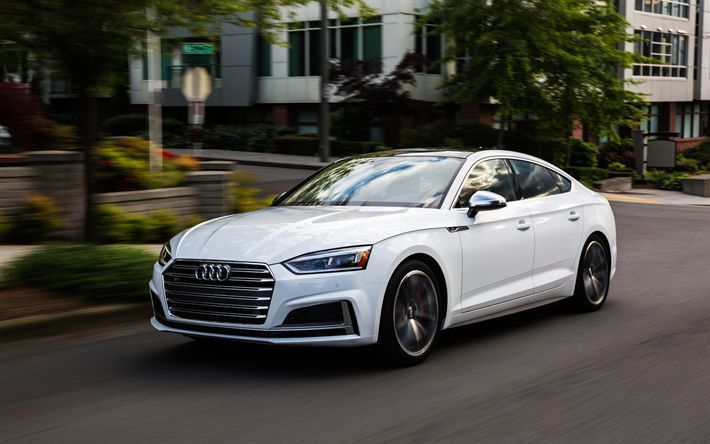 Download Wallpapers Audi S5 A5 2018 4k White S5 Sport Coupe New Car Audi Cars And Motor Audi S5 Audi S5 Sportback Sports Coupe