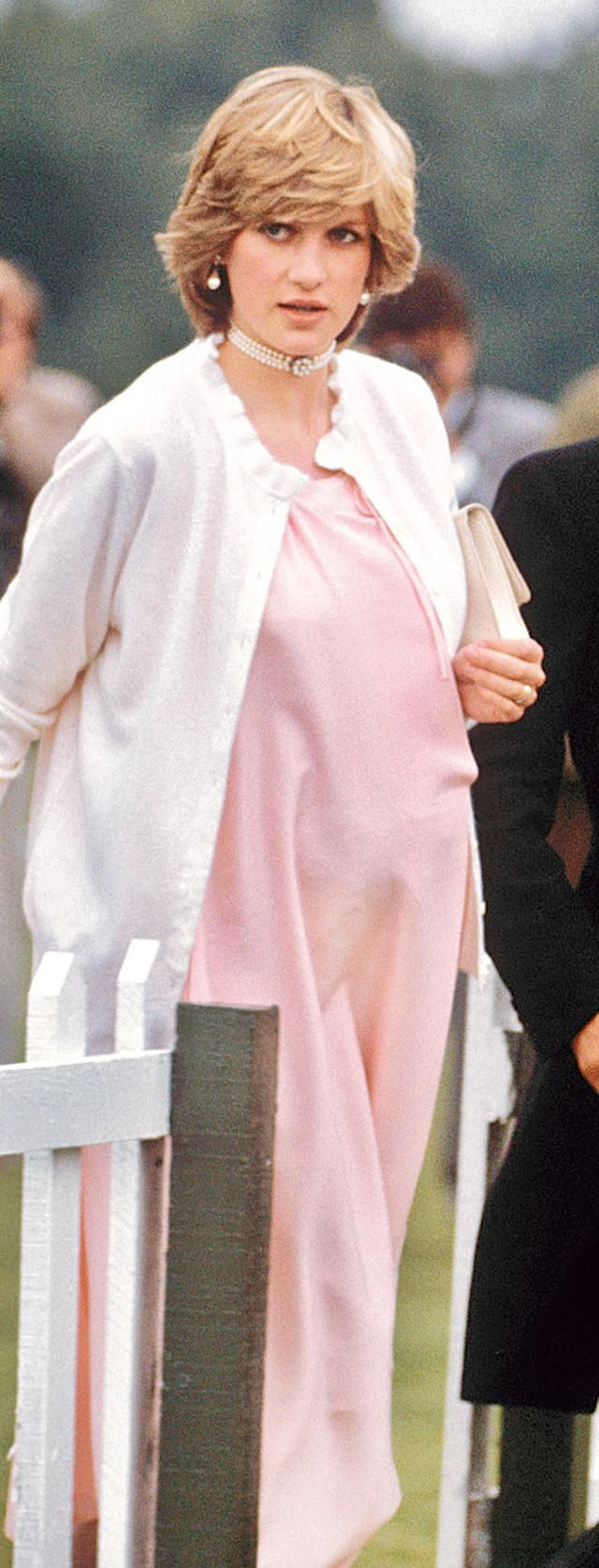 June 14, 1982: Princess Diana attended Ascot then, she attended a polo match at Smith's Lawn in Windsor, minus her hat and adding a white cardigan to her look.