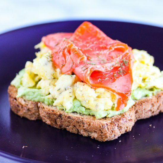 Smoked Salmon Egg and Avocado Toast - A nutritional powerhouse that's an easy and delicious way to start your day!