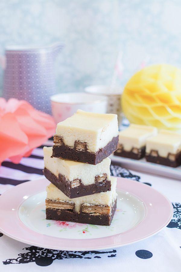 Vídeo-receta: Kit Kat brownie cheesecake