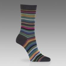 Paul Smith Socks - Grey Signature Stripe Socks