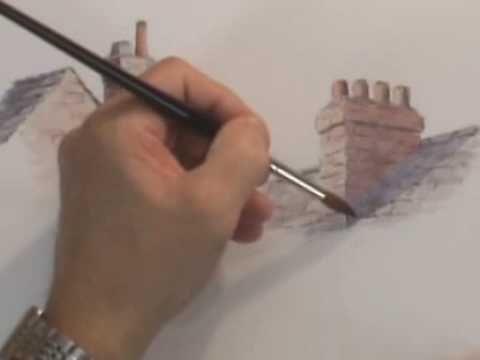 Watercolor Demo - Chimneys Short and Tall