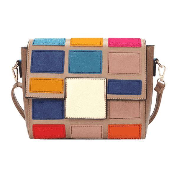 cada27d22b New Style famous brand Retro Minimalist Crossbody Bag Small Women Shoulder  Bag Women Messenger Bag hit color Chain Puzzle