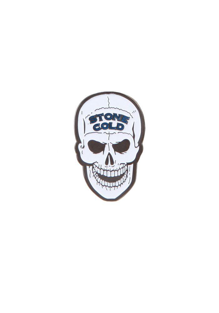 Stone Cold Steven Austin Skull Enamel Pin