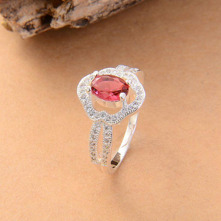 Серебряный Цвет кольца зеленый синий розовый свадебный Серебряный Цвет кольца оптовая циркон ювелирные изделия кольца новый обручальные кольца горячая доставка