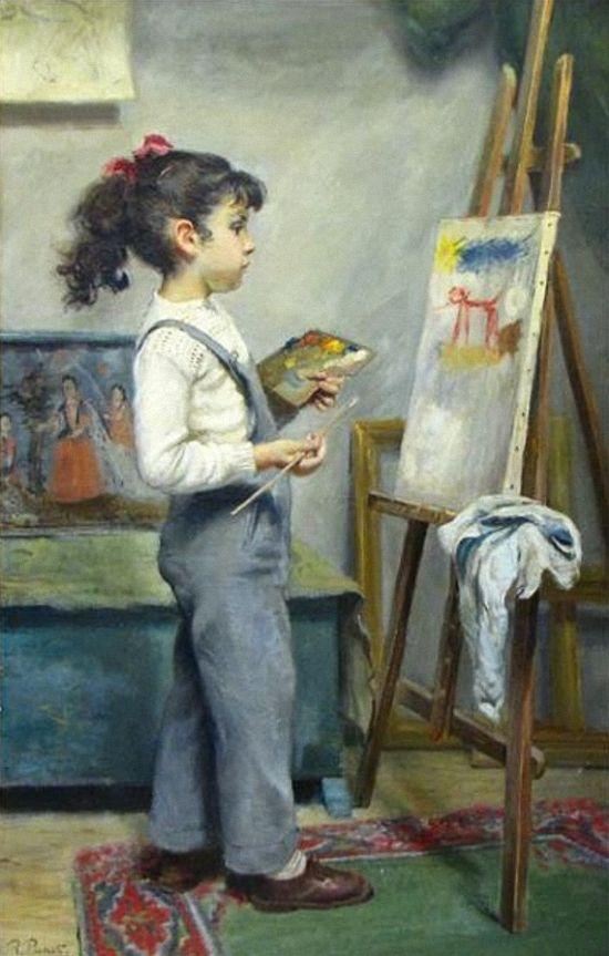 Ramon Pichot y Soler (spanisch, 1924-1996) Der kleine Maler.