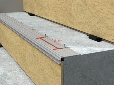 Алюминиевая направляющая для установки профиля Quick Step INCIZO на ступени лестниц