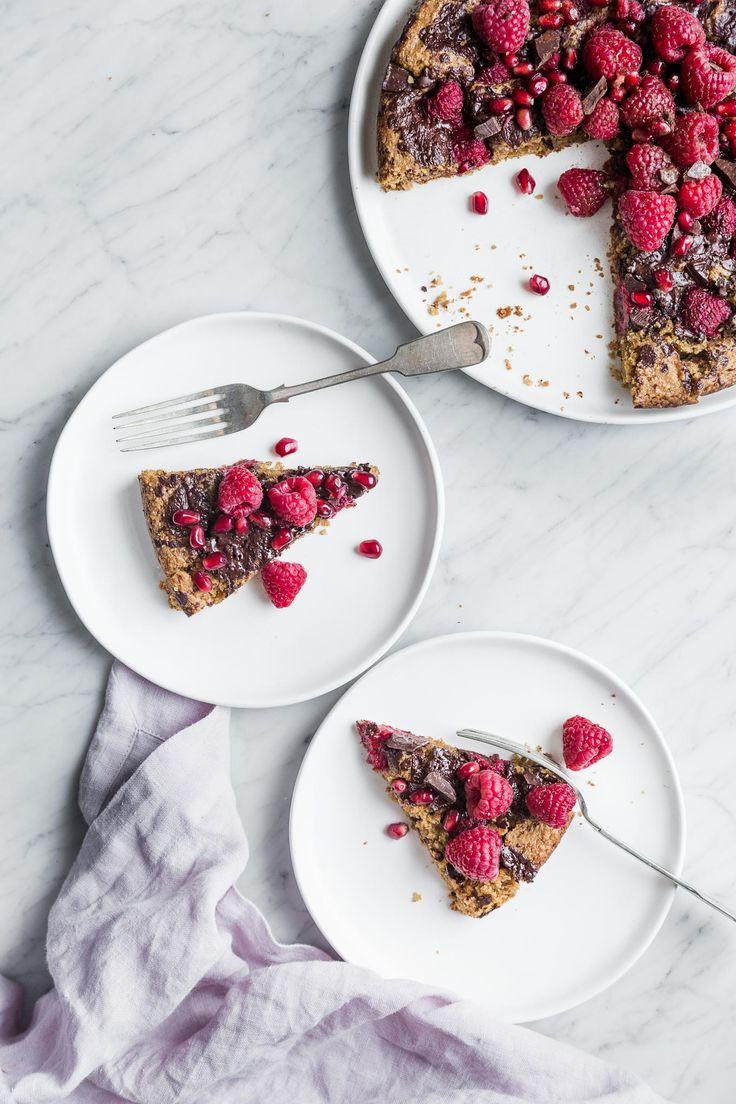 Chocolate Chunk, Raspberry & Almond Cake (Vegan + Gluten-Free) - The Green Life