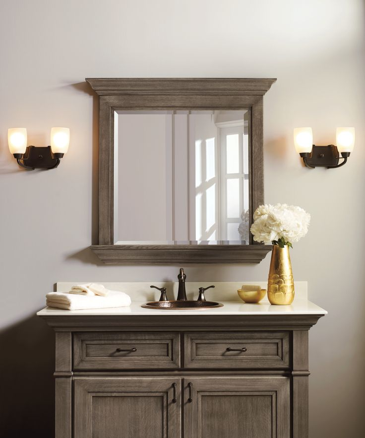 Pics On Makeover Bathroom Vanity Omega Cabinetry free vanity makeover Four Generations One Roof