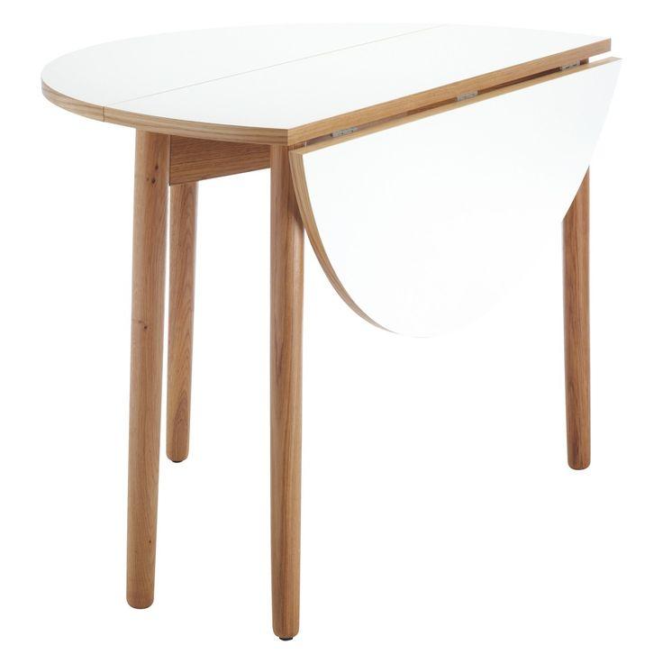 SUKI 2-4 seat white folding round dining table