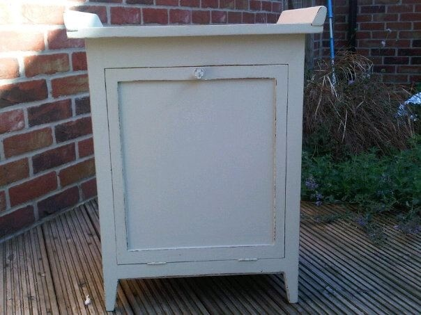 Piano stool come storage unit in Farrow and Ball French Grey