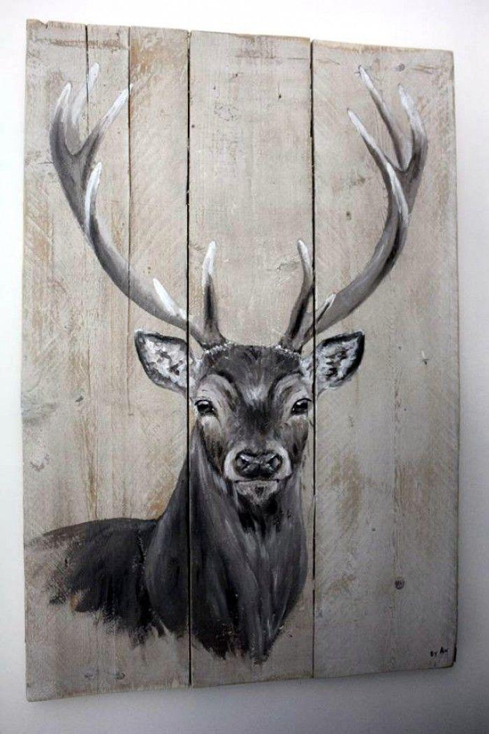 Hert+op+steigerhout Bekijk+en+like+''By+AN+schilderingen''+op+facebook+voor+meer.