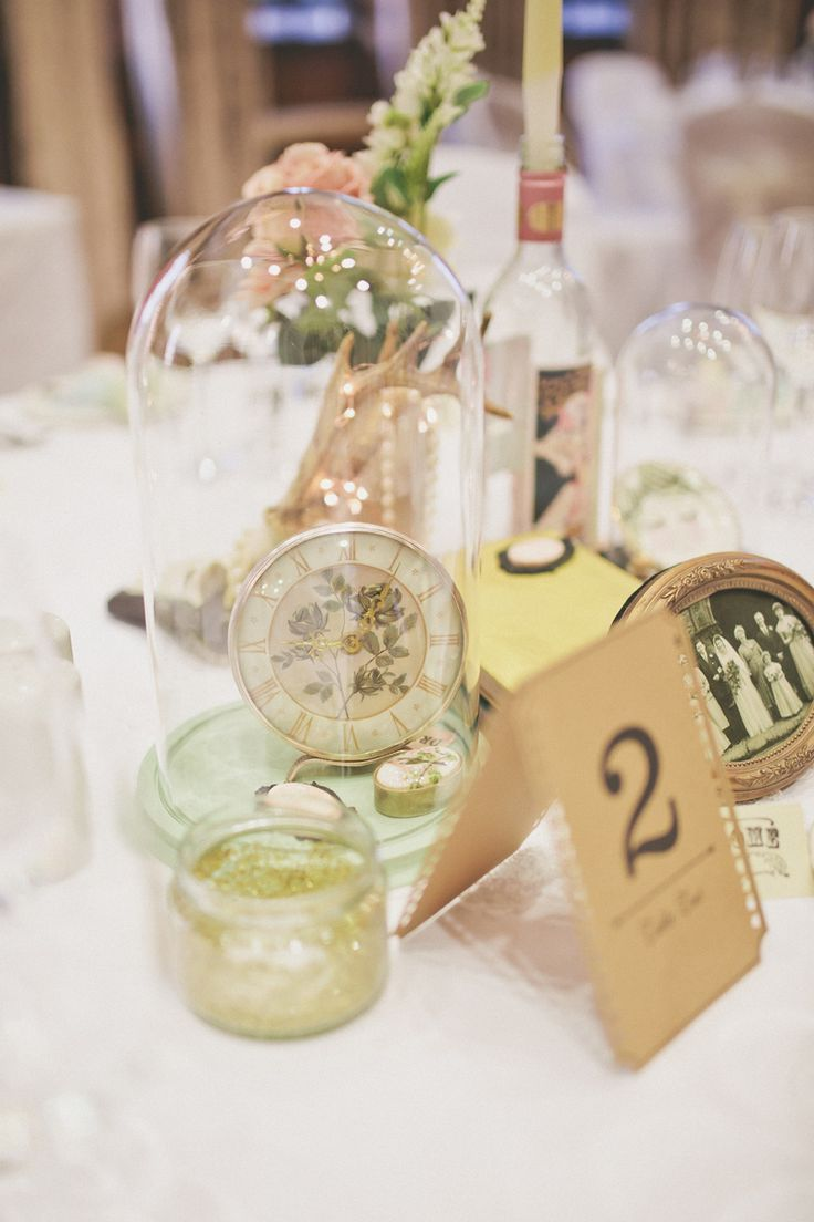 Image by Sarah Jane Ethan - A Quirky Vintage Emporium Style Wedding At Cedar Court Grand York With Bride In Vintage Gown From Glory Days York http://www.rockmywedding.co.uk/dedicated-to-you/