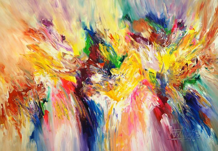Full Of Energy M 2 by Peter Nottrott. This original abstract painting is full of colour and comes from the collection on FineArtSeen. Click to view more art at great prices from the Home Of Original Art. << Pin For Later >>