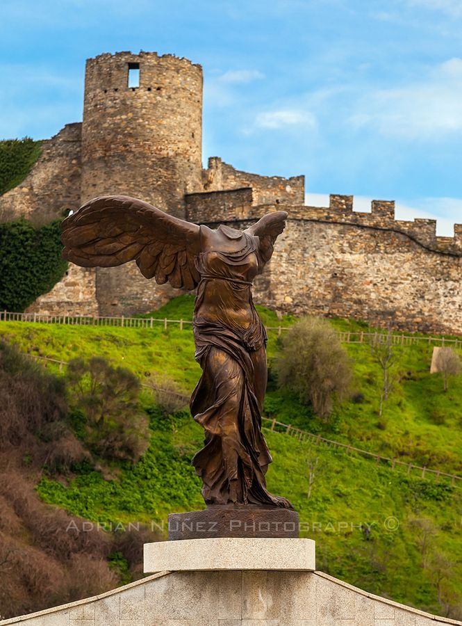Replic of Victoria de Samotracia in Ponferrada, Spain