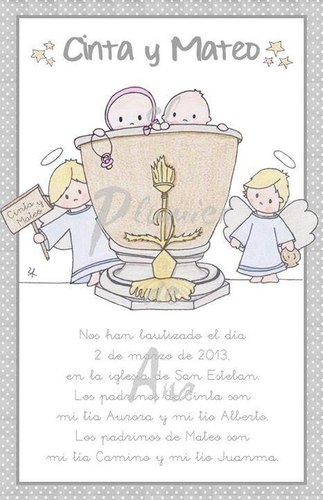 Cinta y Mateo se bautizaron en la pilita de San Vicente Ferrer
