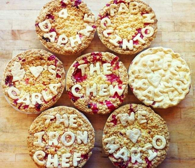 Cherry Crumb pies were created by Grand Traverse Pie Co. (GTPC) for 'The Chew' TV show hosts.