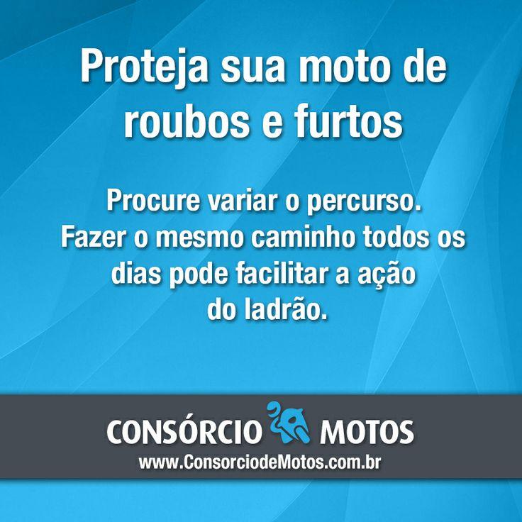 #DicasParaMotos  Bom dia! Diferentemente dos carros, a maioria das motos não tem seguro.  Algumas dicas simples podem evitar que sua moto seja roubada ou furtada. Veja na matéria: https://www.consorciodemotos.com.br/noticias/como-proteger-sua-moto-de-roubos-e-furtos?idcampanha=288&utm_source=Pinterest&utm_medium=Perfil&utm_campaign=redessociais