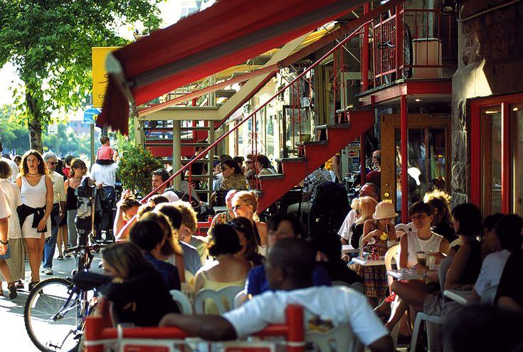 Street cafe -- Saint Denis Street, Montreal . . . .