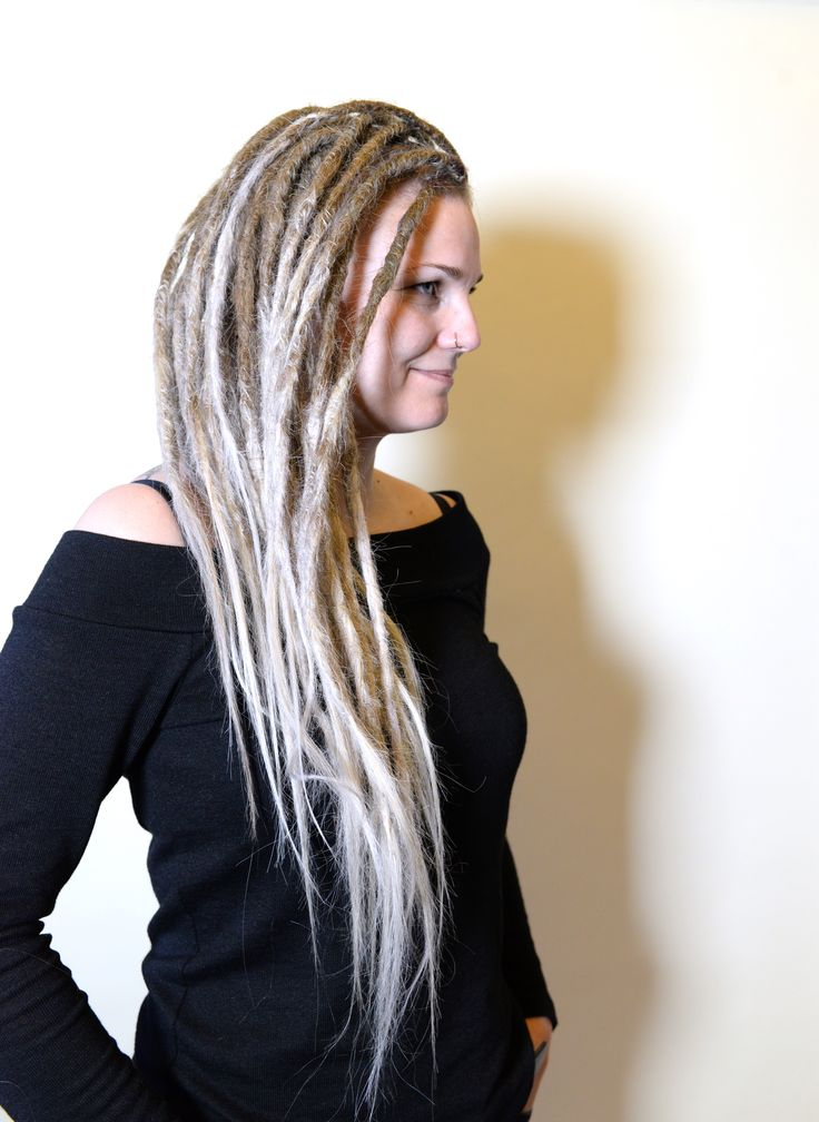 This is Lissla, she has a mohawk that she wanted to have dreadlocks in. Even thou she has part of the head shaved it dit alot of dreadlocks on her head. She was super exited about her new look and could not understand why she has not done dreadlocks before.