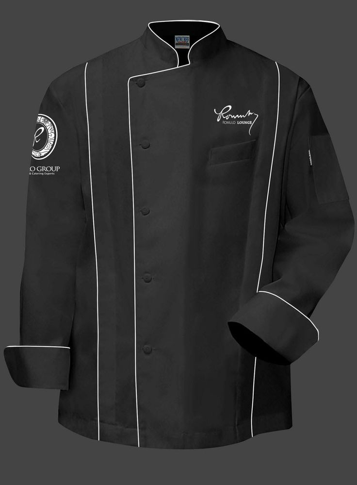 Romulo Chef Jacket- Black