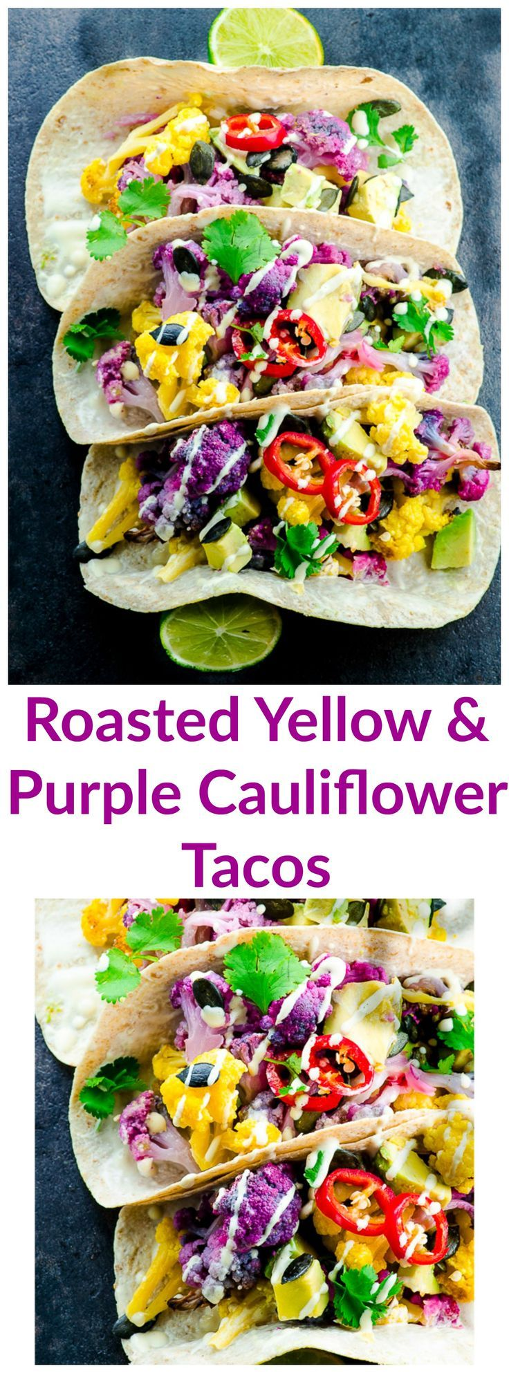 Roasted Yellow and Purple Cauliflower Tacos … And A Follow Up On Our Moral Dilemma