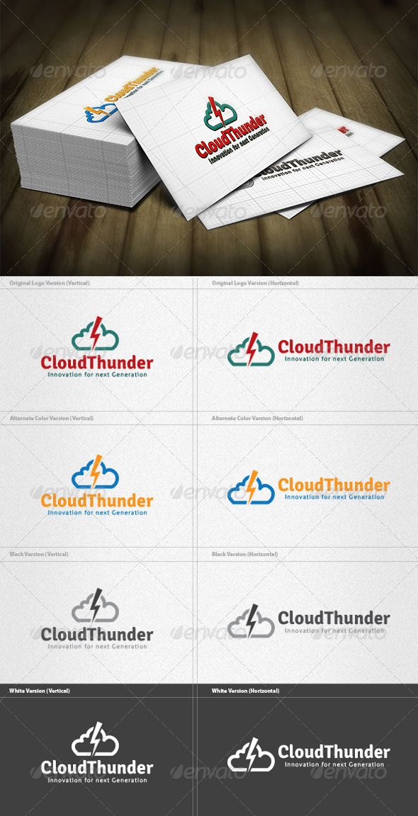 Cloud Thunder Logo GraphicRiver Cloud Thunder Logo is a